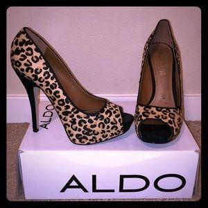 Leopard Aldo heels